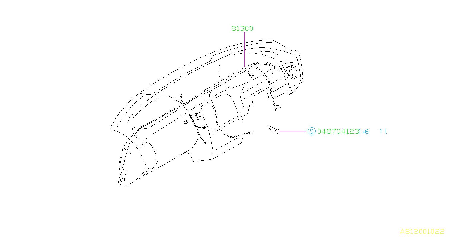 subaru legacy harness-instrument panel  out back u0u1  wiring  instrumentpanel
