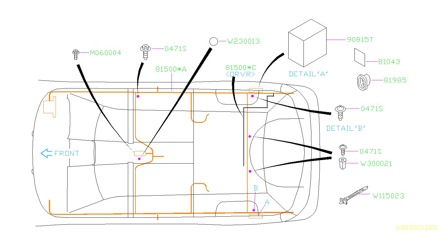 Subaru Legacy Wiring Harness   Rear   Onboard Re