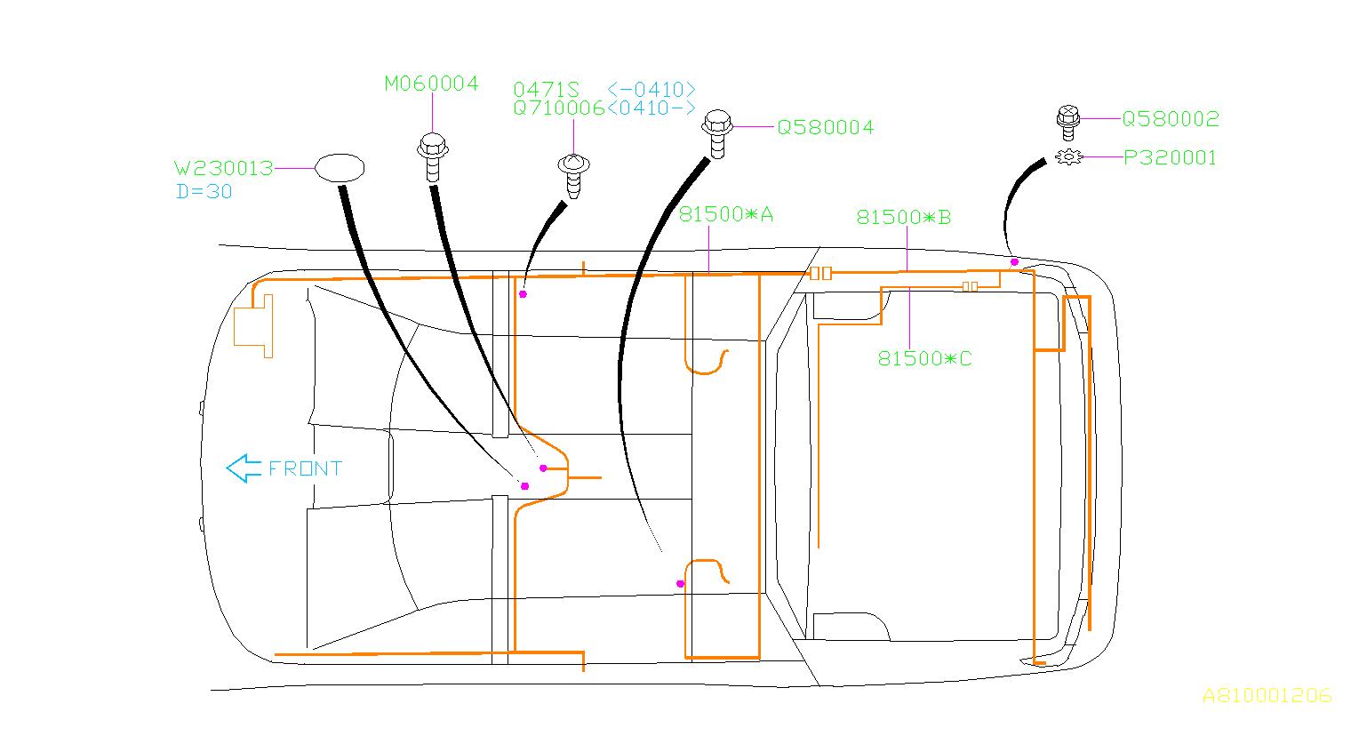 Subaru Baja Wiring Harness Usa   Rear   Main  Electrical