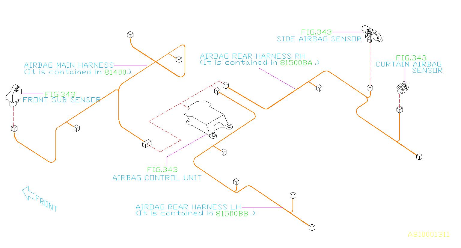 Subaru Outback Wiring Harness Bulkhead