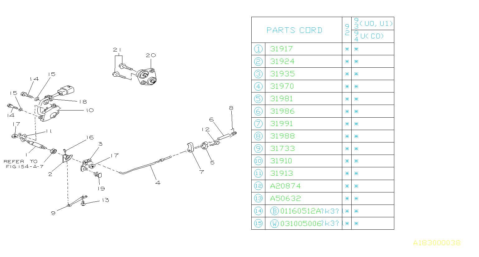 Subaru Svx Automatic Transmission Gear Position Sensor
