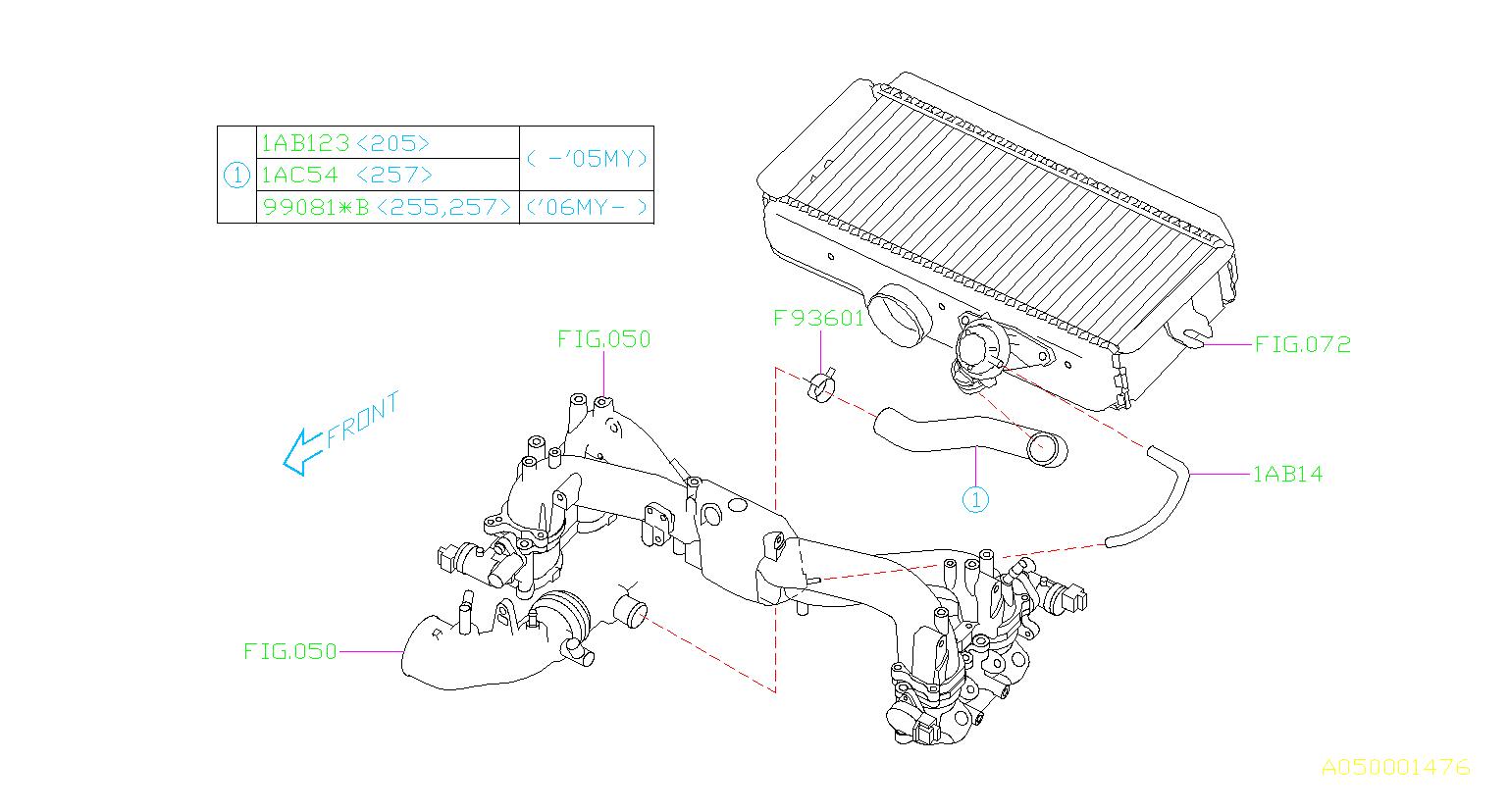 Subaru Impreza Hose Vacuum  Hse Vacuum  Maintenance
