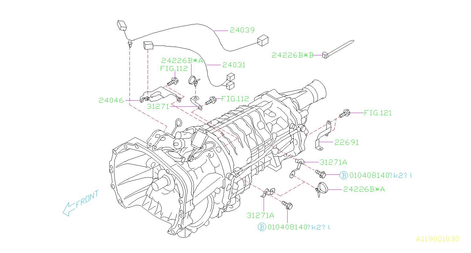 Subaru Impreza Clip Band  B  Control  Emission  Egr