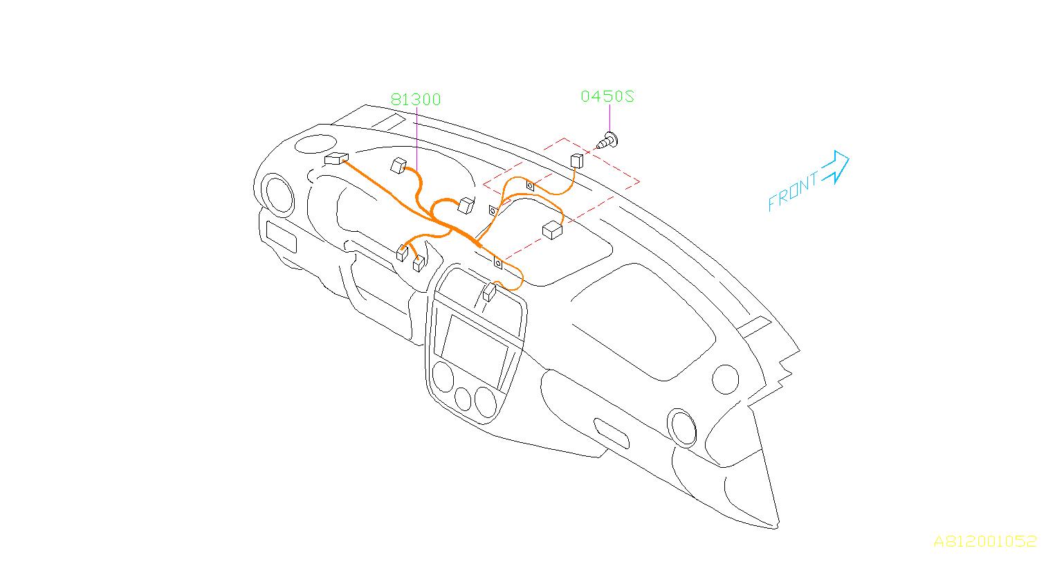 subaru wrx harness-instrument panel  wiring  instrumentpanel  electrical