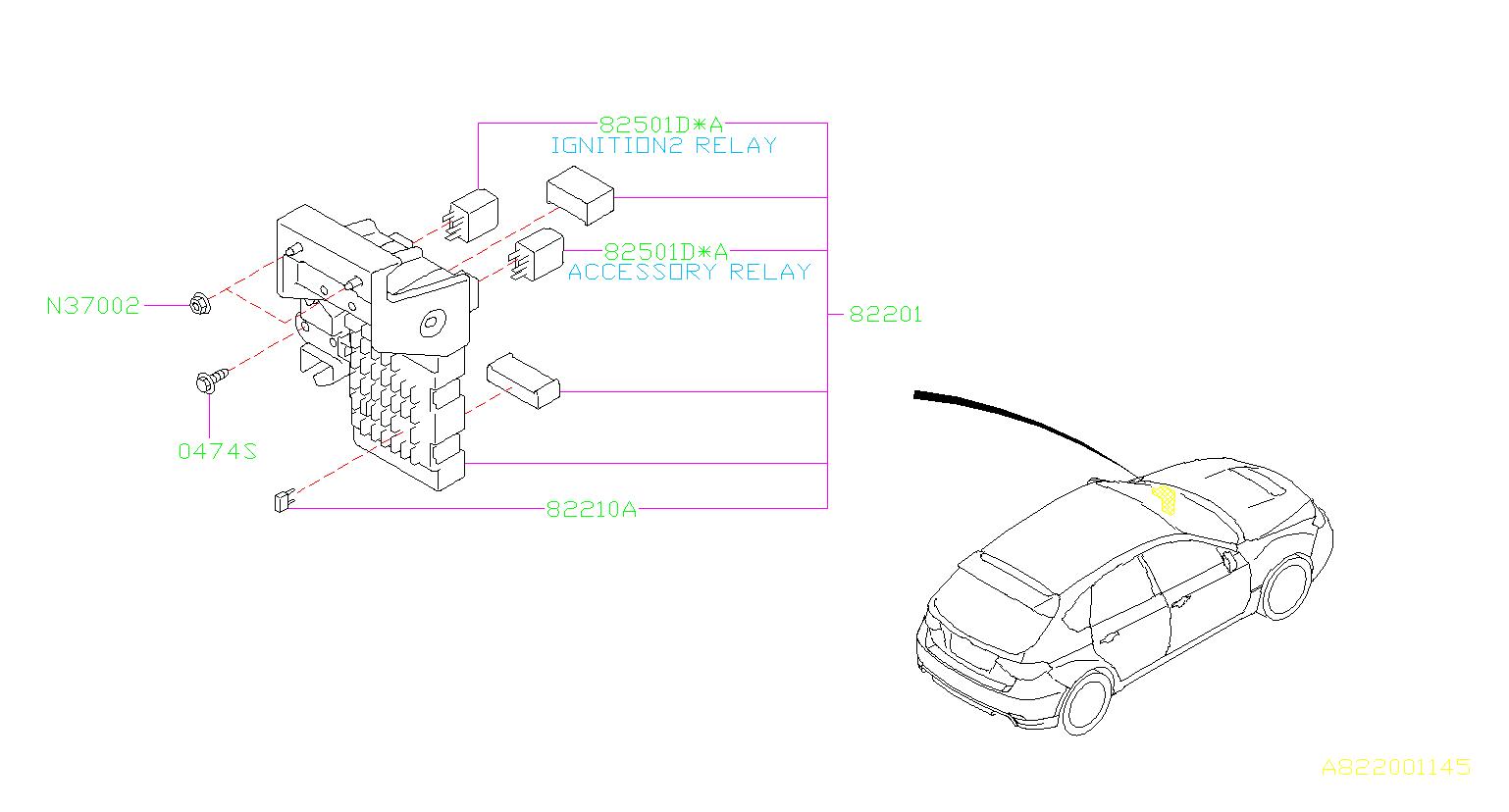 Subaru Wrx Fuse-auto  Box  Main  Wiring