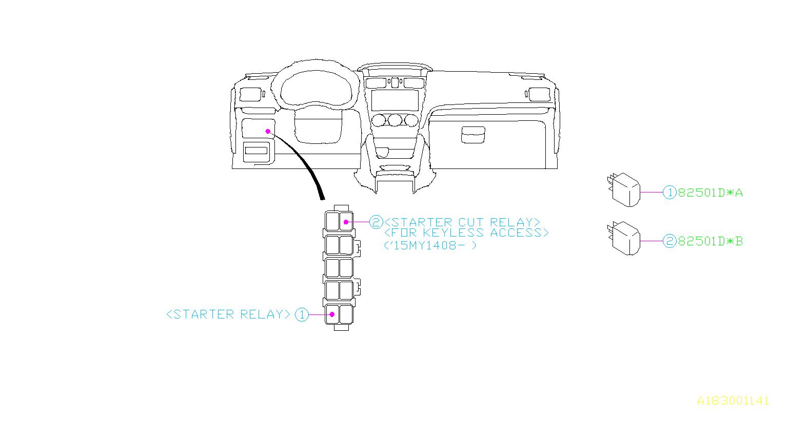 Subaru Sti Relay Electrical Body Control 82501ag120
