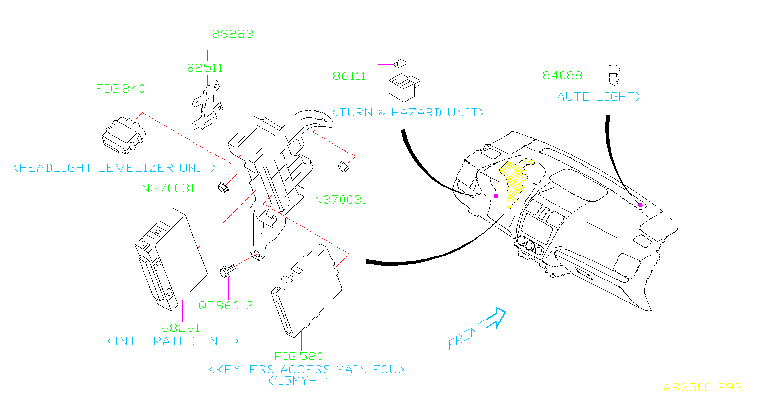 Subaru Impreza Integrated Unit  Integ Unit Usi  Body