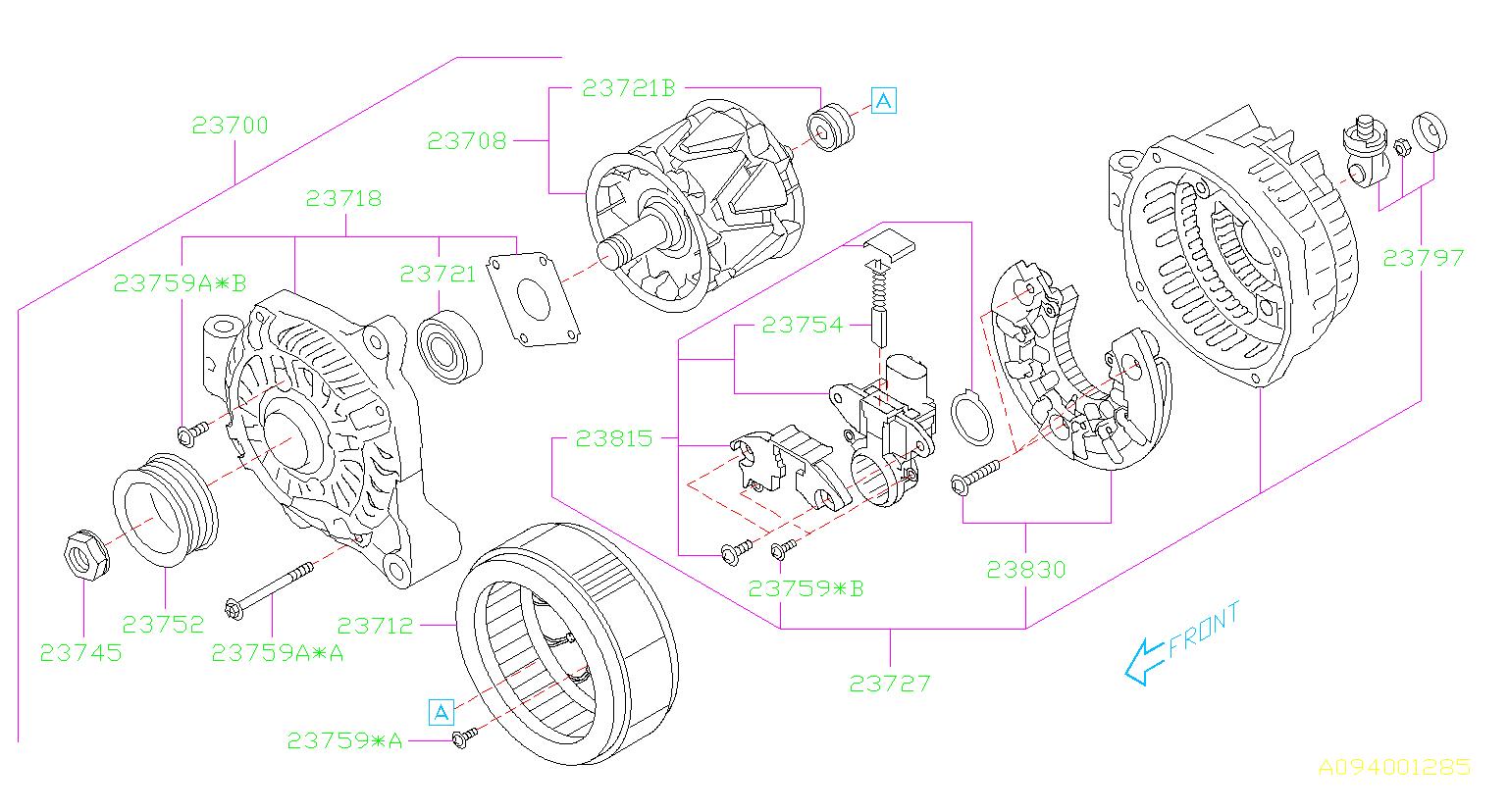 Subaru Forester Screw Set Alternator  Scr Alt Ntr  Body