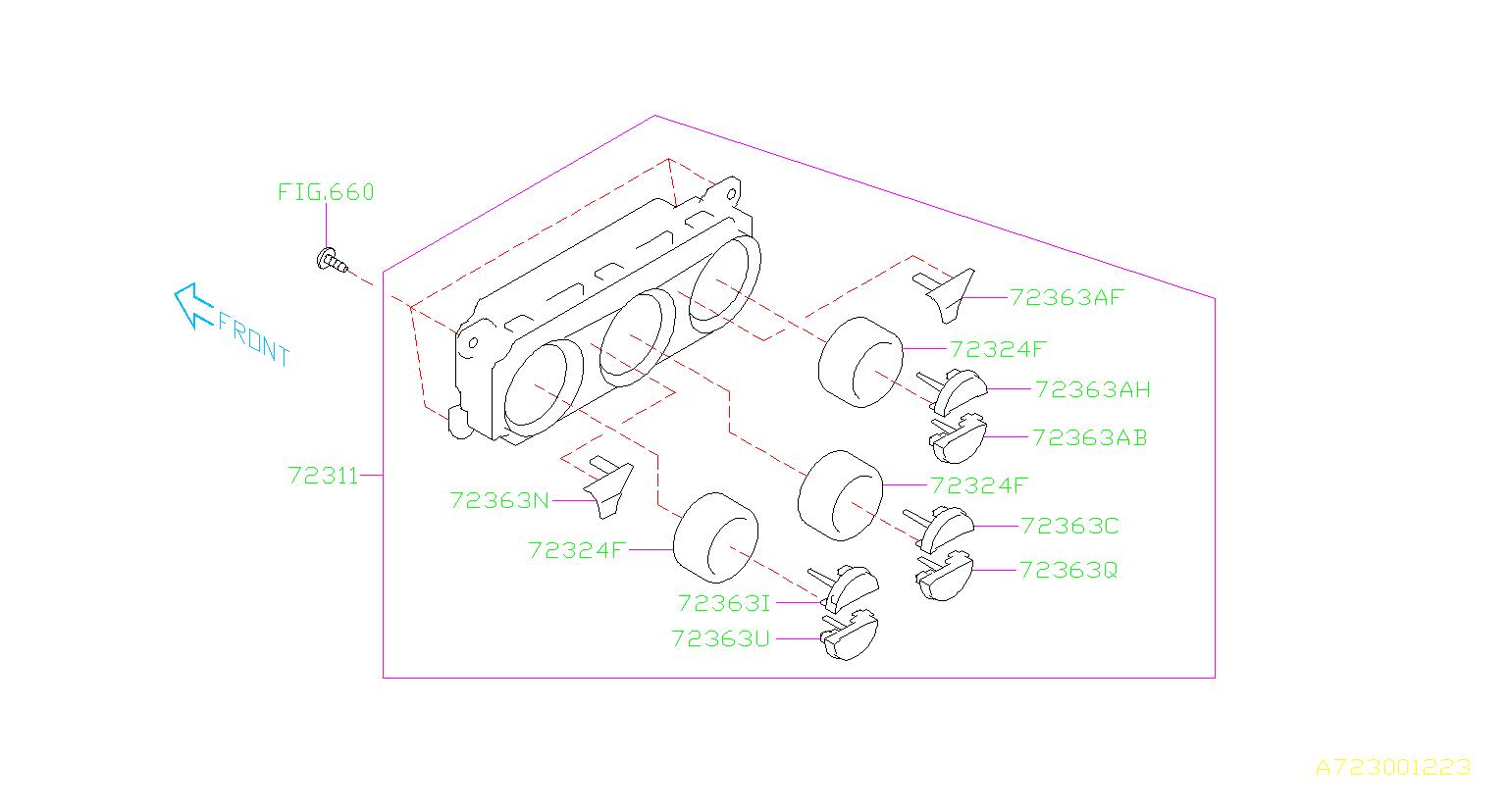 Subaru Forester Knob Auto Air Conditioning  A  C   Control