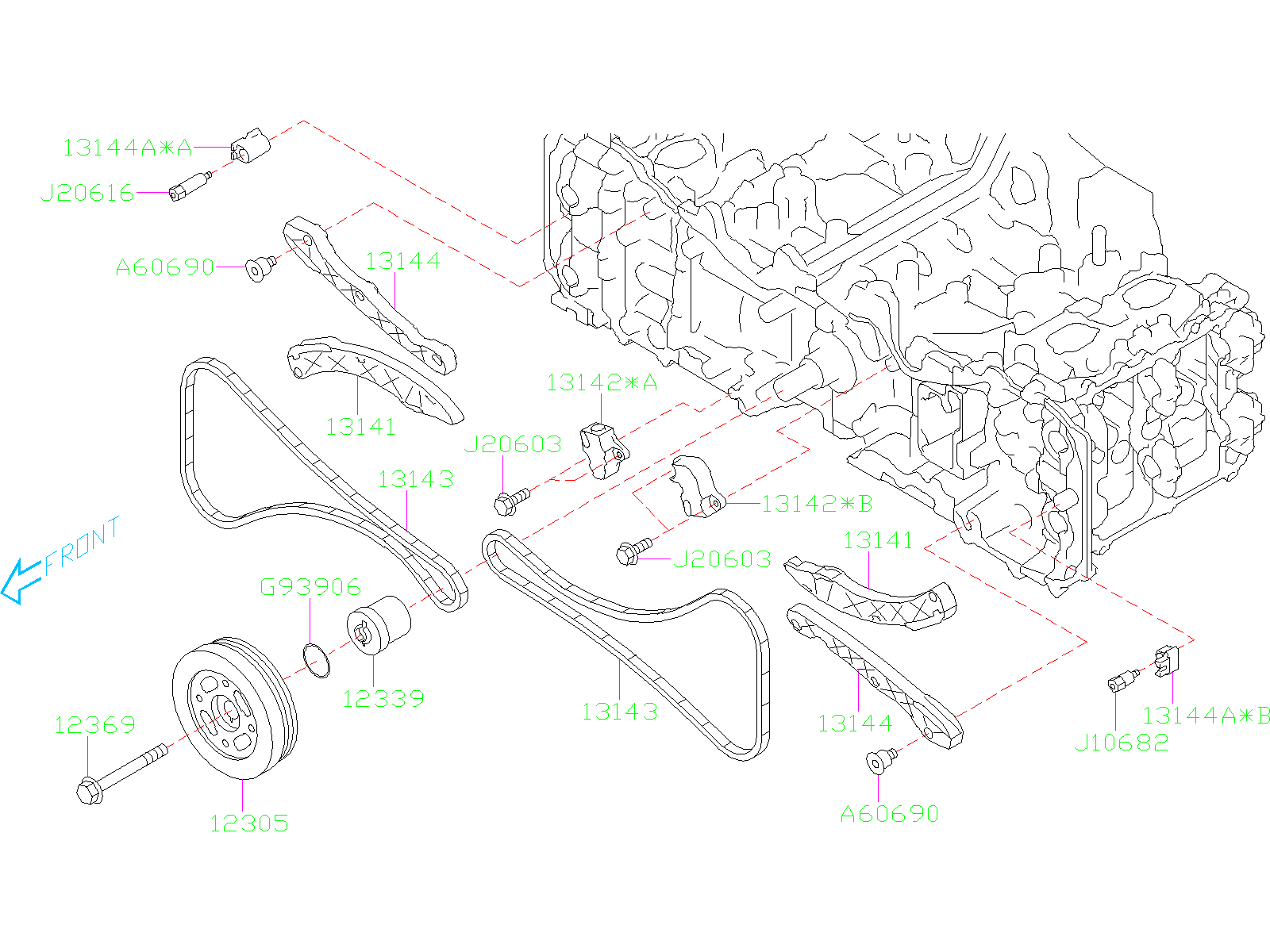 S on 2013 Subaru Forester Timing Belt Or Chain