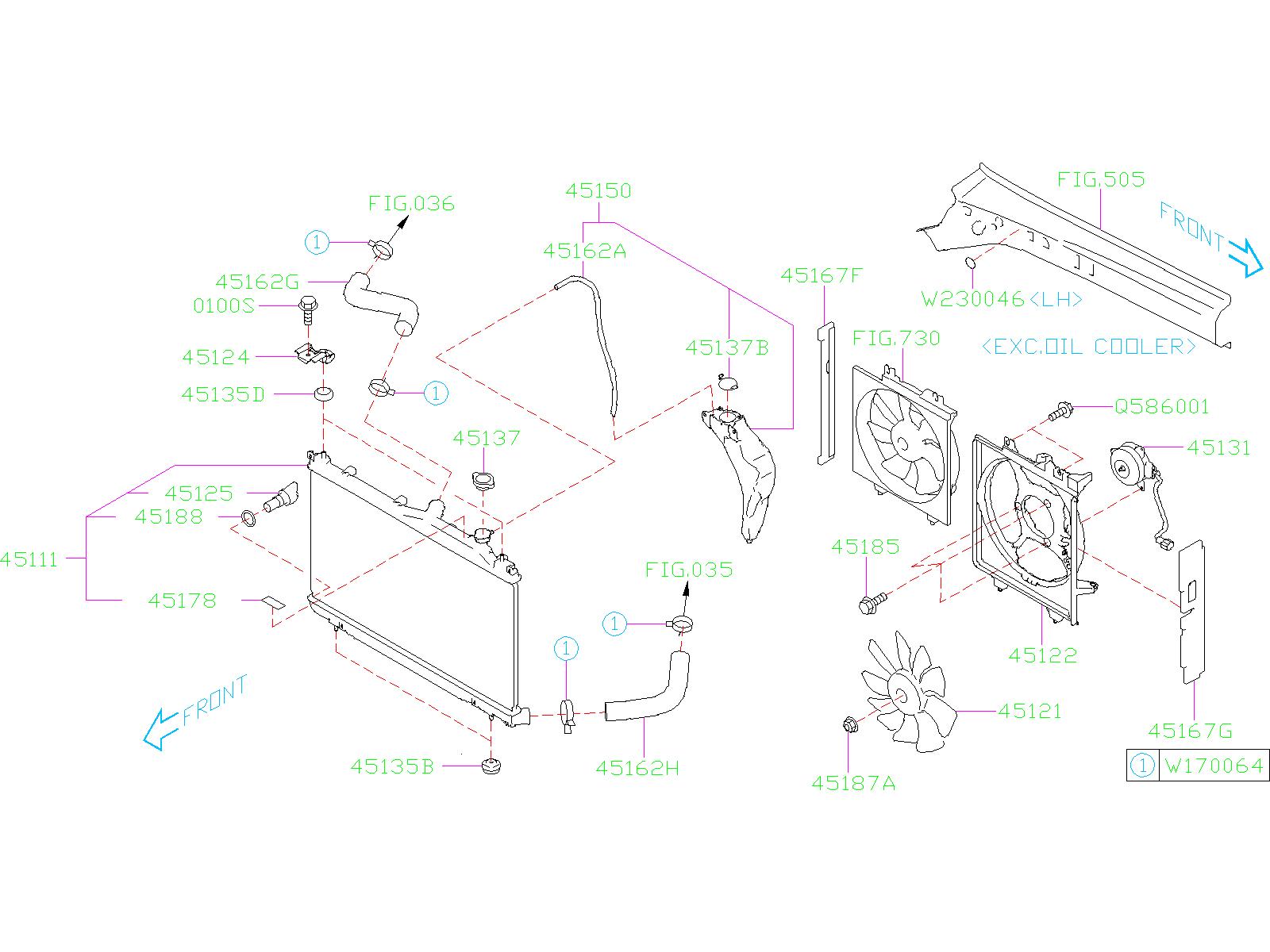 Subaru Forester Radiator Drain Plug  Air Plug Radiator