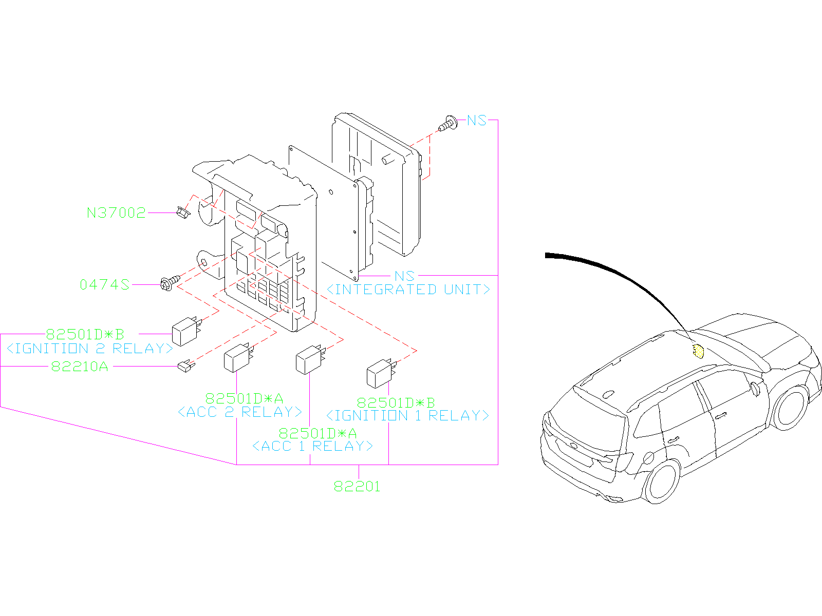 Subaru Forester Fuse  Electrical  Box  Current