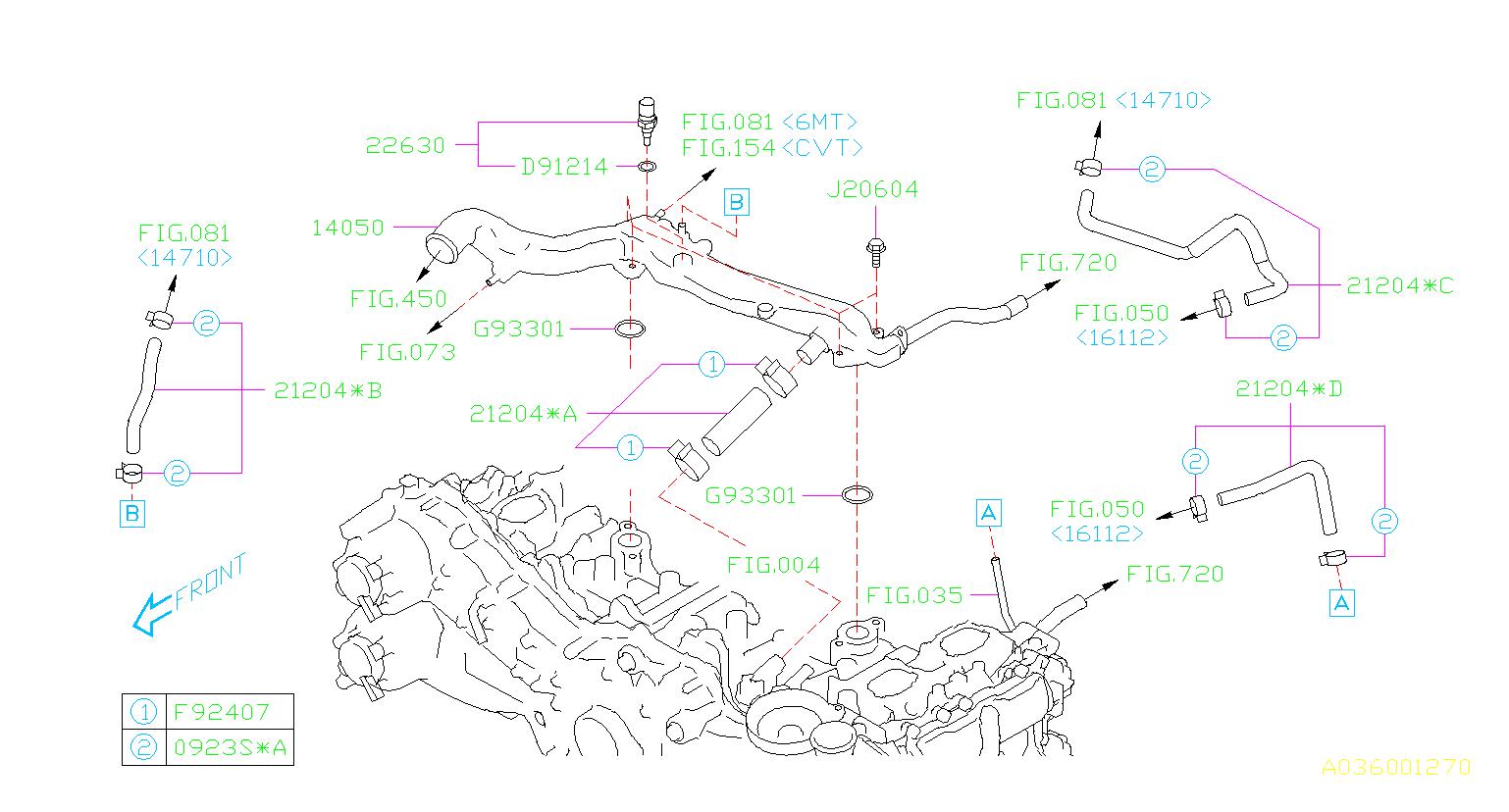 Subaru Wrx Engine Coolant Hose