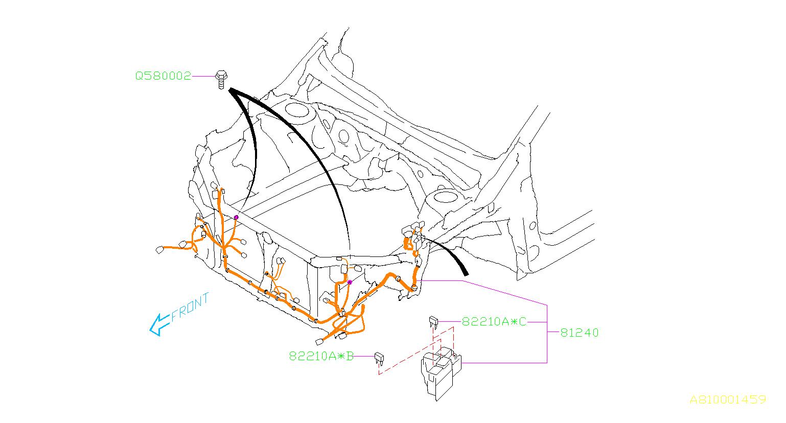 subaru wrx harness-front  wiring  main  electrical