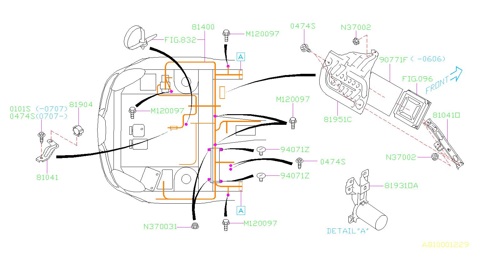 Subaru Tribeca Harness-bulkhead  Wiring  Main  Electrical  Airbag