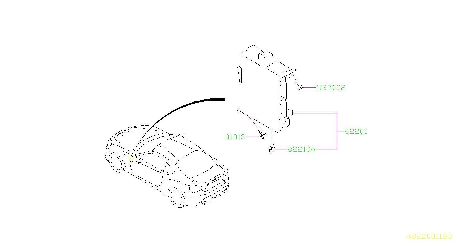 Subaru Brz Fuse-auto  Box  Harness  Wiring