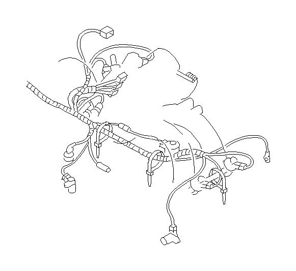 subaru legacy harness-engine  wiring  manifold  intake  cooling