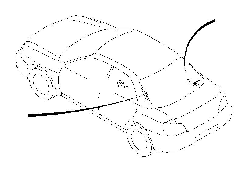 Subaru Impreza Radio Wiring Harness. Antenna - 86325FE220 ...
